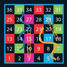 1-36 Solid Snakes & Ladders