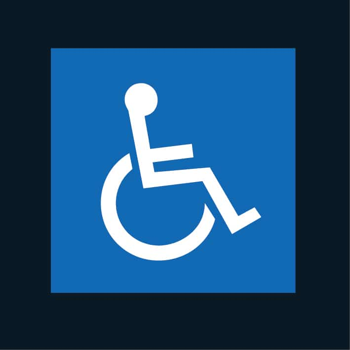 Disabled car park linings