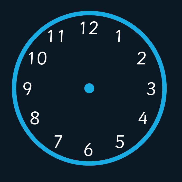 12 Hour Clock