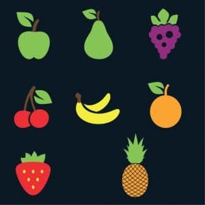 Line up stations/ Fruits