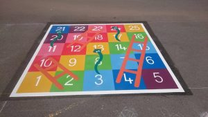 School playground markings in London
