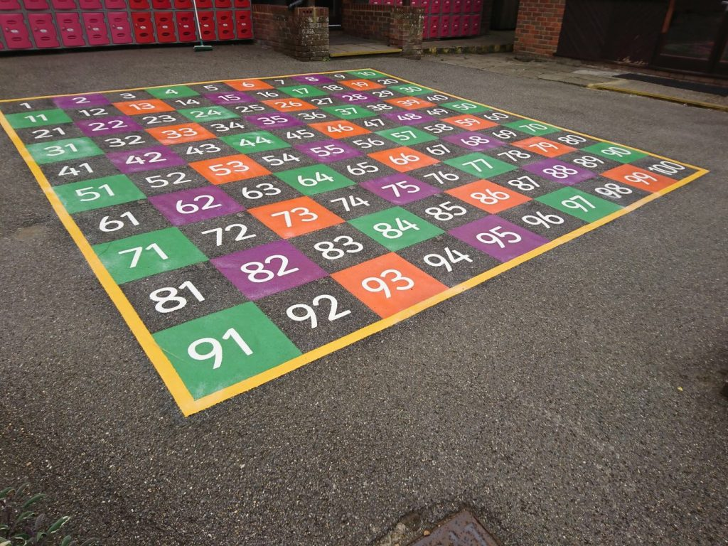 Playground Markings Numbered square