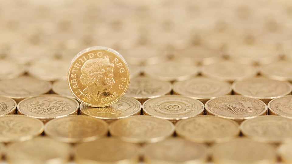 Pound coins for the wealthy