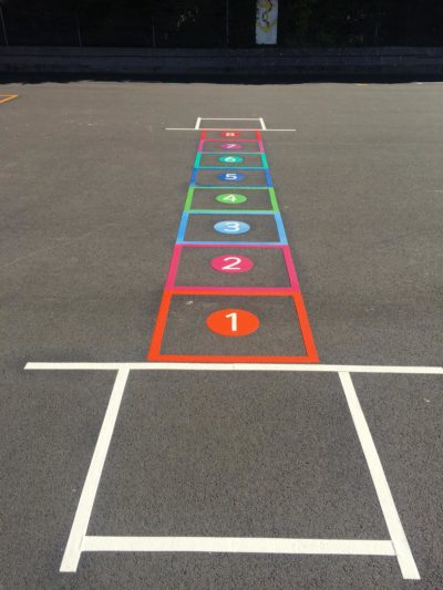 Playground markings hopscotch